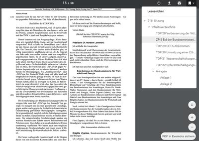 Screenshot eines eingebetteten barrierefreien PDF